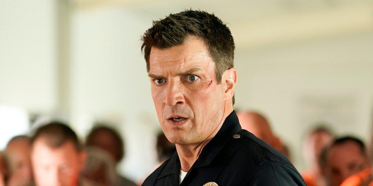 john nolan the rookie shocked face