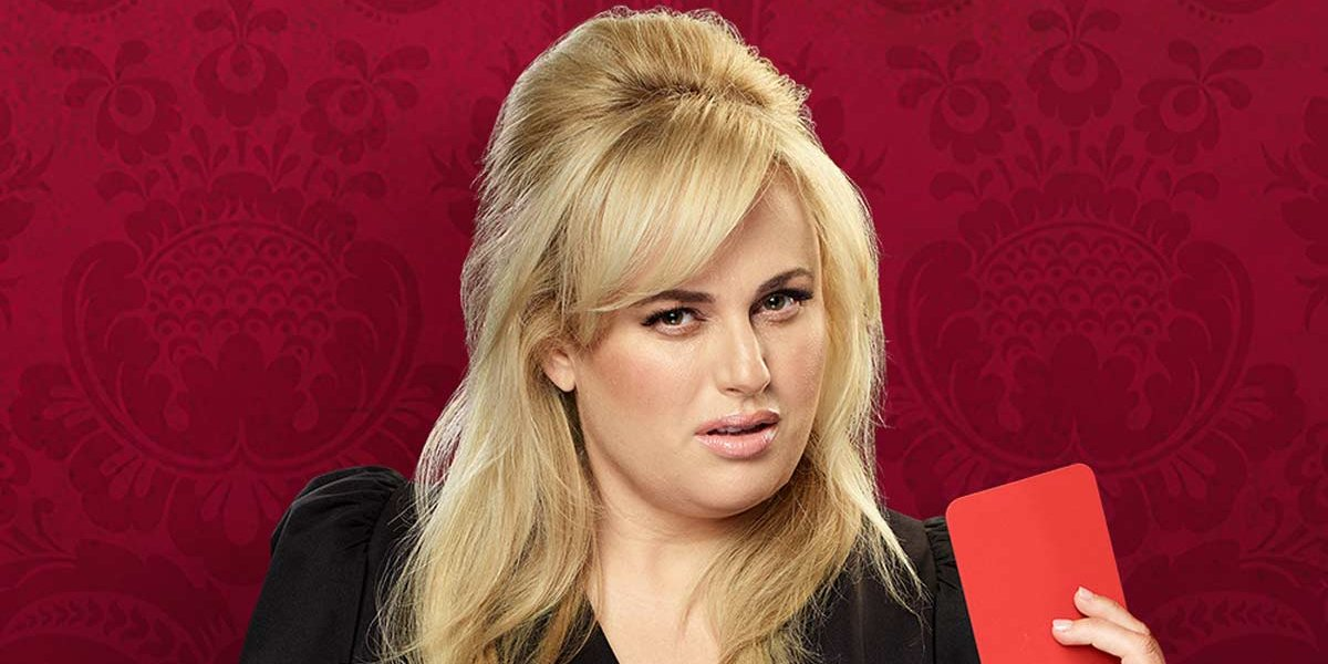 Last One Laughing Rebel Wilson holding a red card