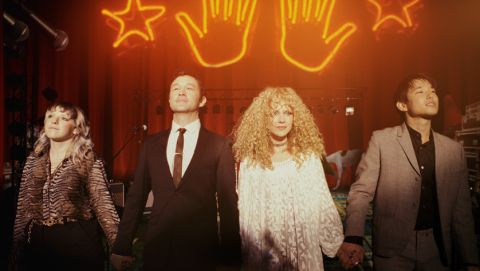Joseph Gordon-Levitt and Juno Temple take a bow in 'Mr. Corman'.