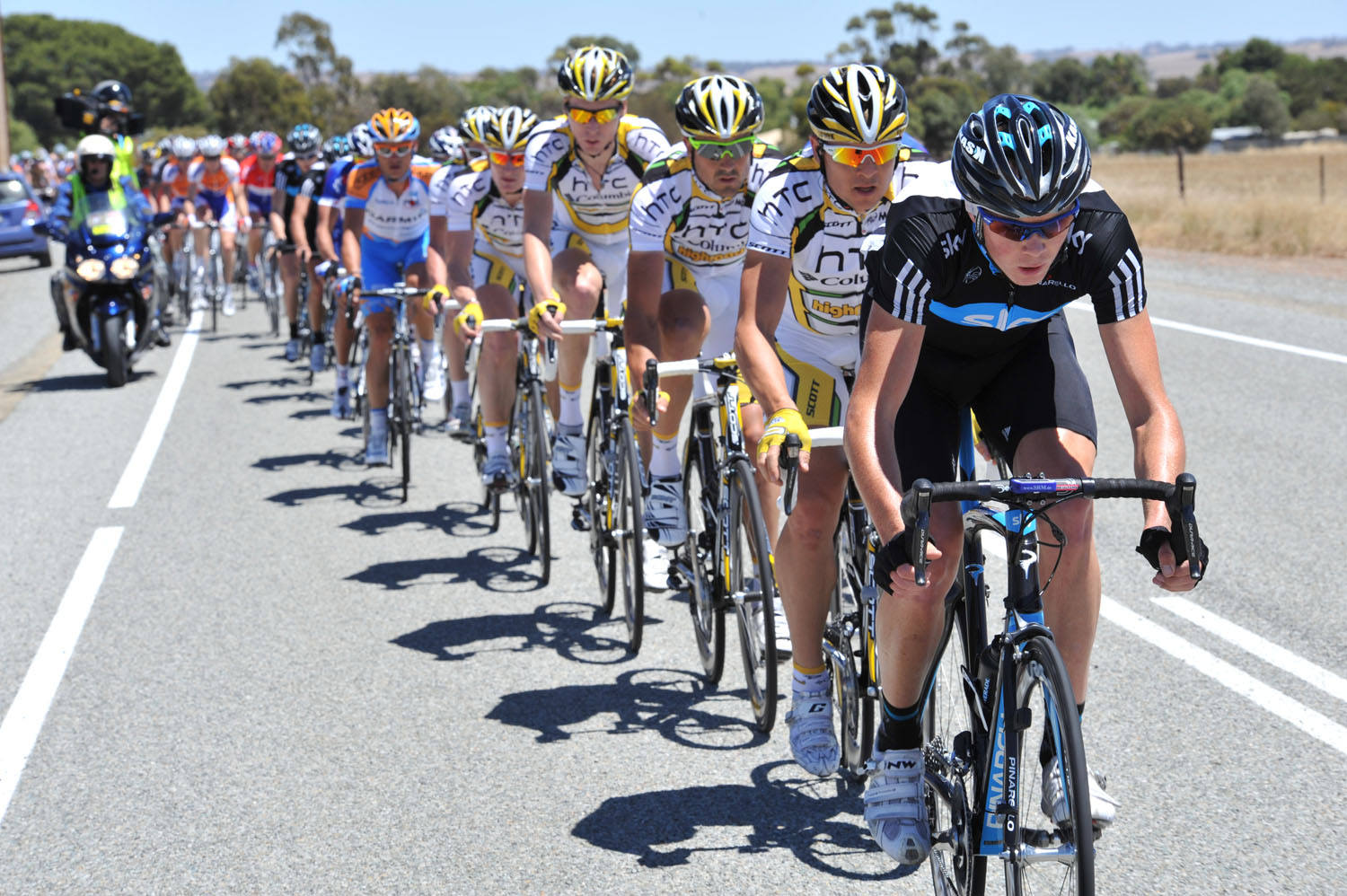tour down under, tdu, stage one, 2010, andre greipel, htc columbia, team sky, greg henderson, lance armstrong, australia, protour, adelaide, cycling, cycle racing