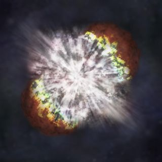This is a NASA illustration of a supernova.