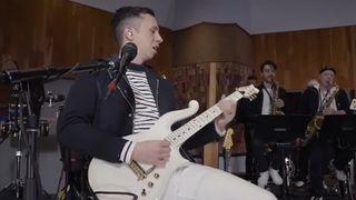 Cory Wong playing Prince's Cloud guitar