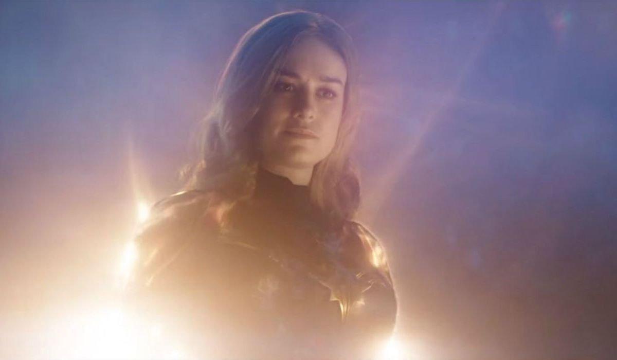 Captain Marvel in Avengers: Endgame saving Tony Stark and Nebula