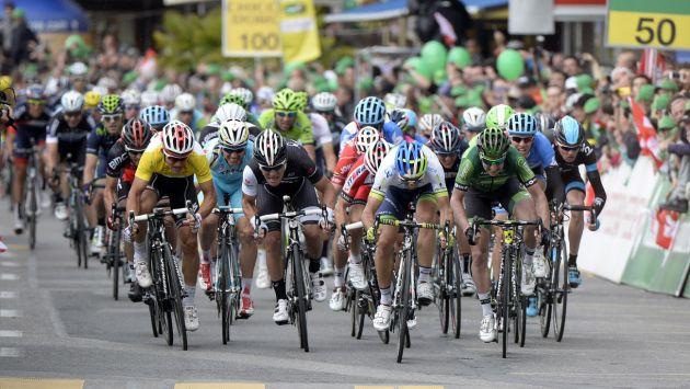 Michael Albasini wins stage two of the 2014 Tour de Romandie