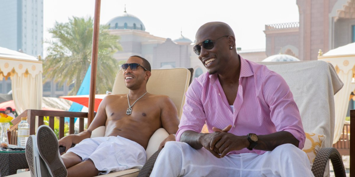 Ludacris and Tyrese Gibson in Furious 7