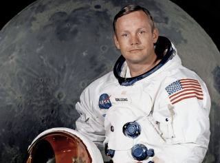 Apollo 11 commander Neil A. Armstrong seen in a crew portrait for the Apollo 11 moon landing mission.