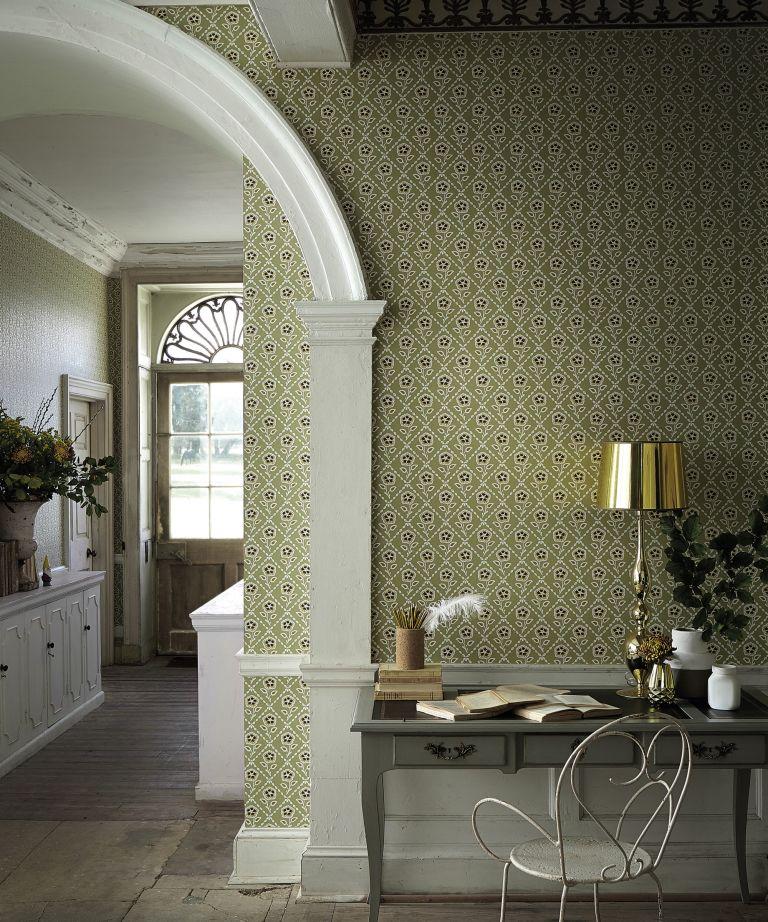 Whitehall Moutarde wallpaper, Little Greene