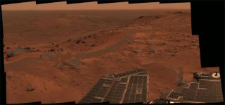 Rocky Mountain High: Spirit Rover Surveys its Surroundings
