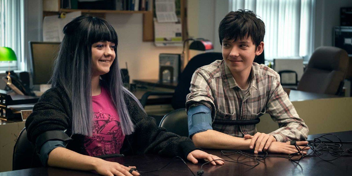Maisie Williams and Asa Butterfield in Then Came You
