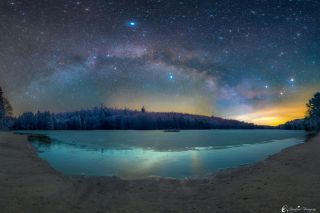 Astrophotographer Matt Pollock took this image of the Milky Way on March 3, 2016, from Cherry Plain State Park in Petersburg, New York.