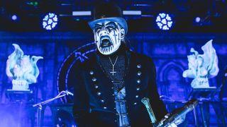 King Diamond onstage screaming