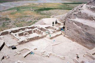 oval enclosure at godin tepe in western iran