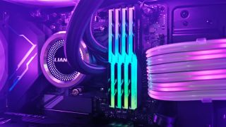G.Skill Trident Z Neo DDR4-3600 displayed in an RGB gaming PC C16 4x8GB