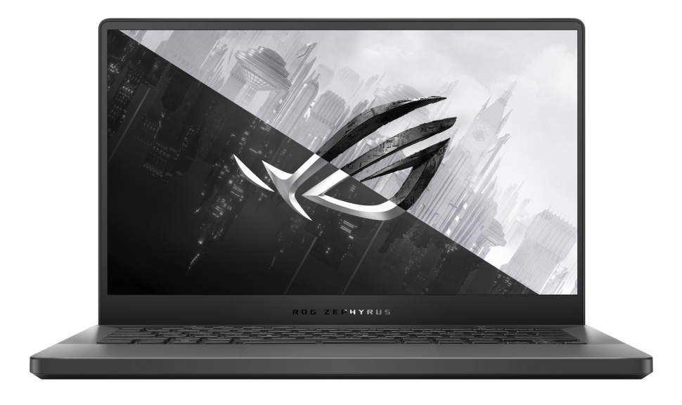 Close up of the Asus Zephyrus G14 gaming laptop's screen