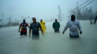 hurricane dorian damage in Bahamas.