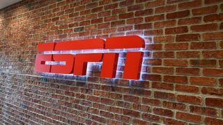 ESPN logo in hallway in ESPN's main campus