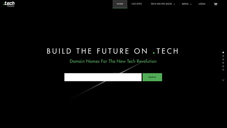 Build your online brand with a .tech domain name