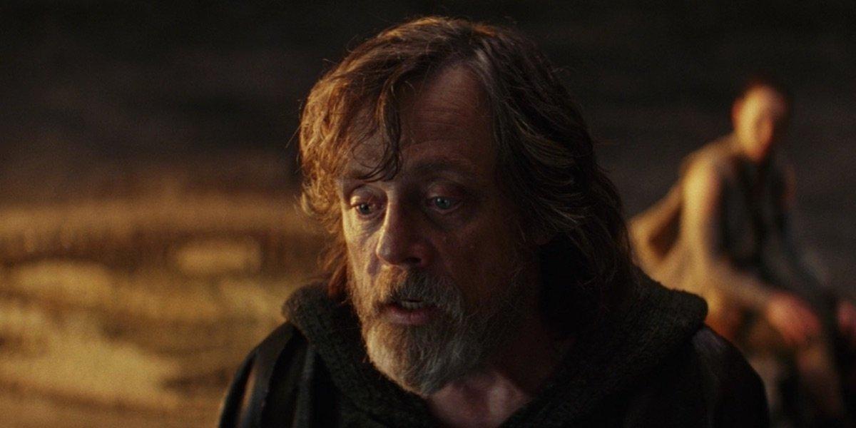 Luke talking to Rey in The Last Jedi