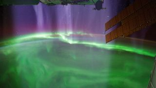 Earth from Space Station Aurora