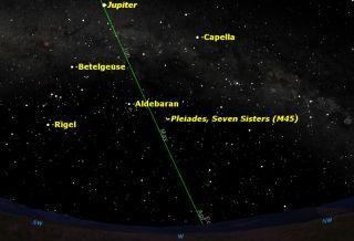 Zodiacal Light Sky Map March 2014