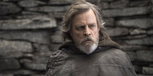 Mark Hamill Luke Skywalker looks to the side Star Wars The Last Jedi