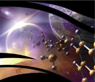 An artist's illustration for NASA's Astrobiology Program.