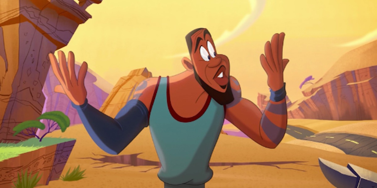 cartoon LeBron James in Space Jam: A New Legacy