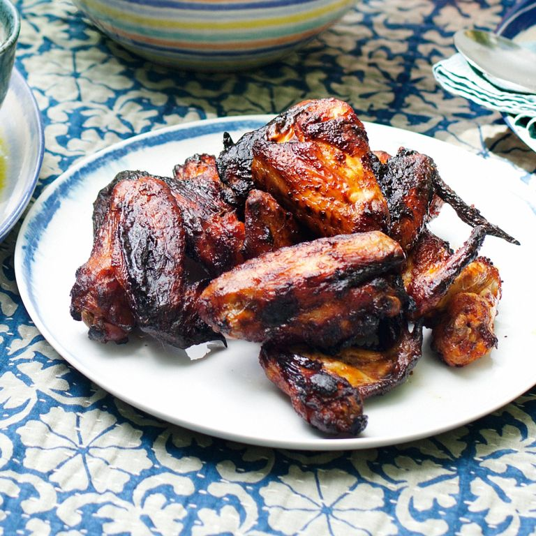 Smoked Hickory Chicken Wings-woman and home