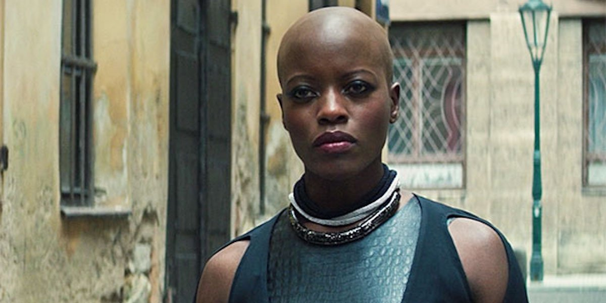 Florence Kasumba as Ayo in Falcon and the Winter Soldier