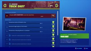 Fortnite Trick Shot challenges: How to beat all of the Chapter 2 Season 1 Week 7 mission