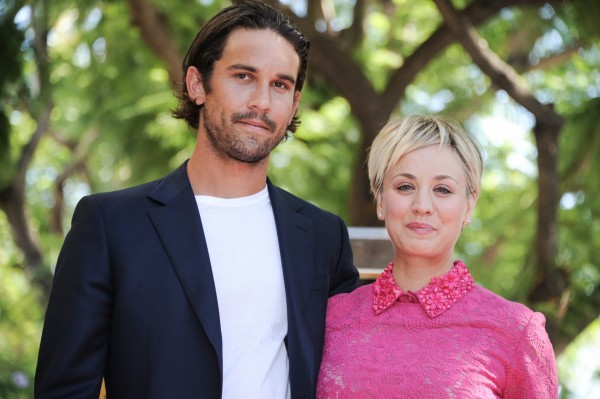 Kaley Cuoco and husband Ryan Sweeting attend the ceremony