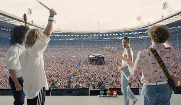 Queen at Live Aid in Bohemian Rhapsody