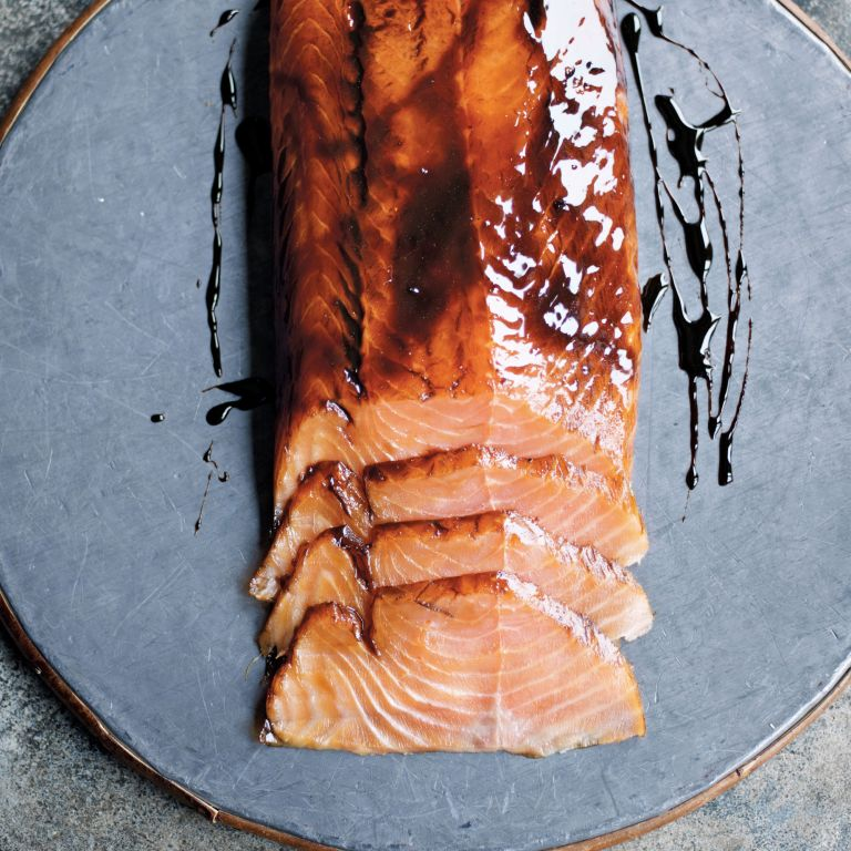 Treacle Cured Salmon photo from James Martin Slow Cooking