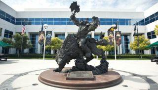 Blizzard's Big Orc Statue