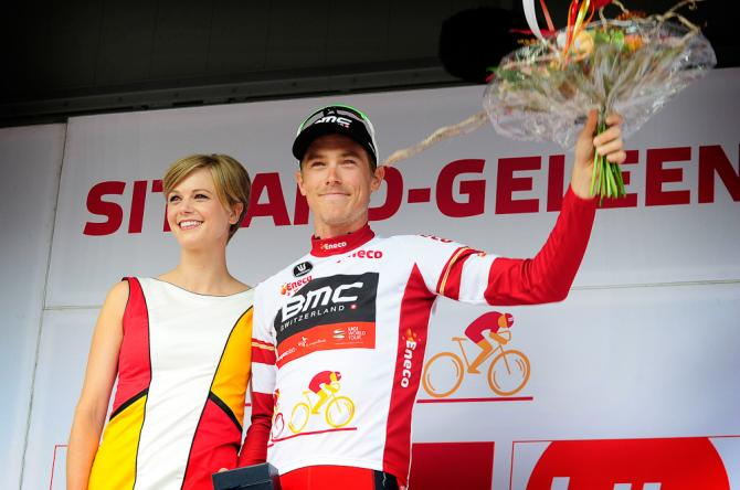 Rohan Dennis in the leader's jersey at Eneco Tour