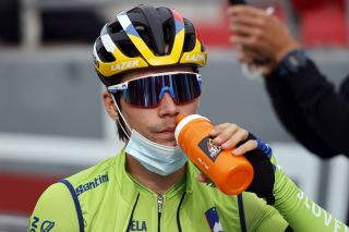 Slovenia's Primoz Roglic finished sixth in the elite men's road race at the 2020 World Championships in Imola, Italy