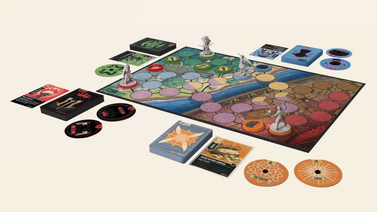 Unmatched: Battle of Legends board game review, with the board set up ready for a game