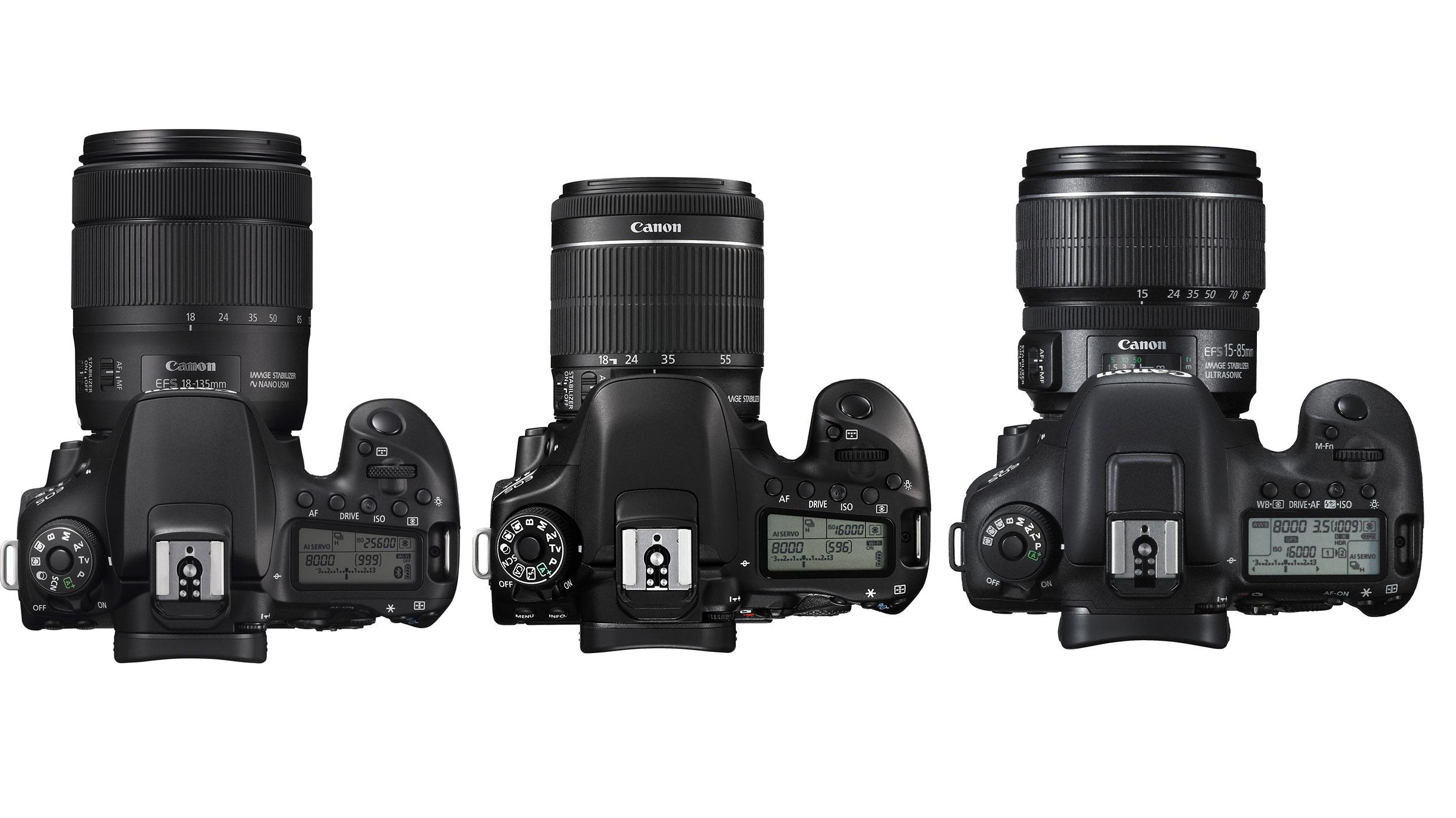 Canon EOS 90D vs EOS 80D vs EOS 7D Mark II: 12 key differences | Digital Camera World
