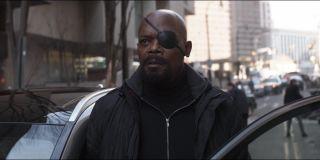 Samuel L. Jackson as Nick Fury in Avengers: Infinity War