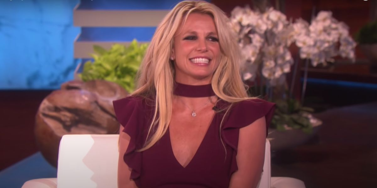 Britney Spears smiles during an interview on The Ellen DeGeneres Show