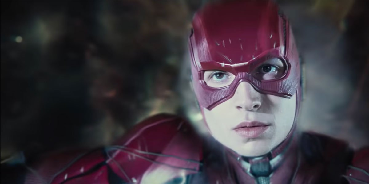 Barry Allen going so fast he's slow in Zack Snyder's Justice League