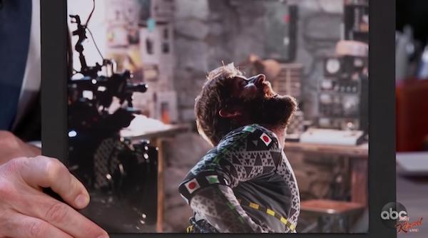 John Krasinski as the creature in A Quiet Place on Jimmy Kimmel Live