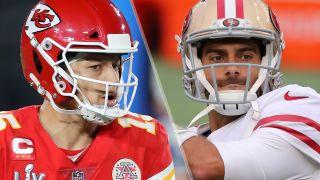 Chiefs vs 49ers live stream: Patrick Mahomes and Jimmy Garoppolo