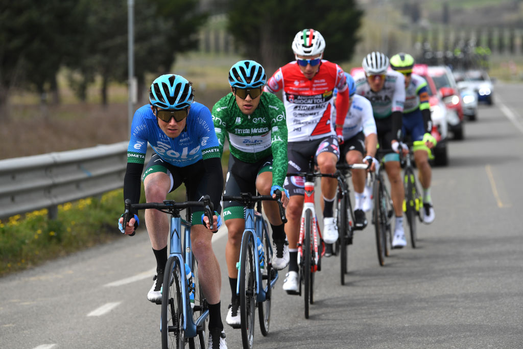 This is the break of the day at Tirreno-Adriatico