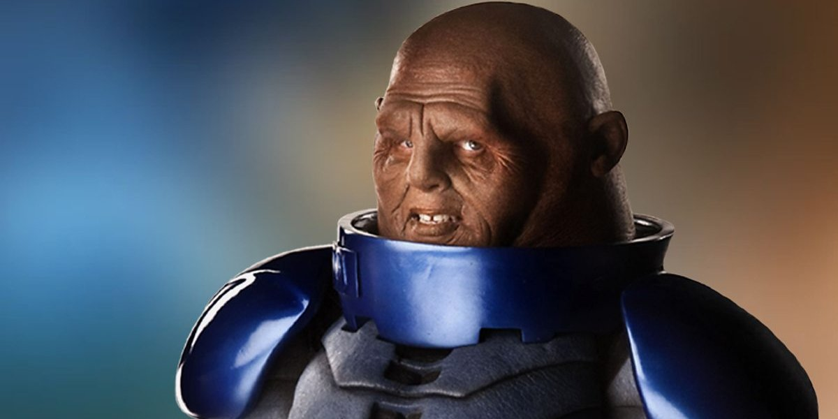 Doctor Who Commander Strax smiles