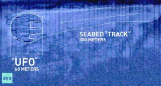 "Sonar image of the Baltic Sea ""UFO"""