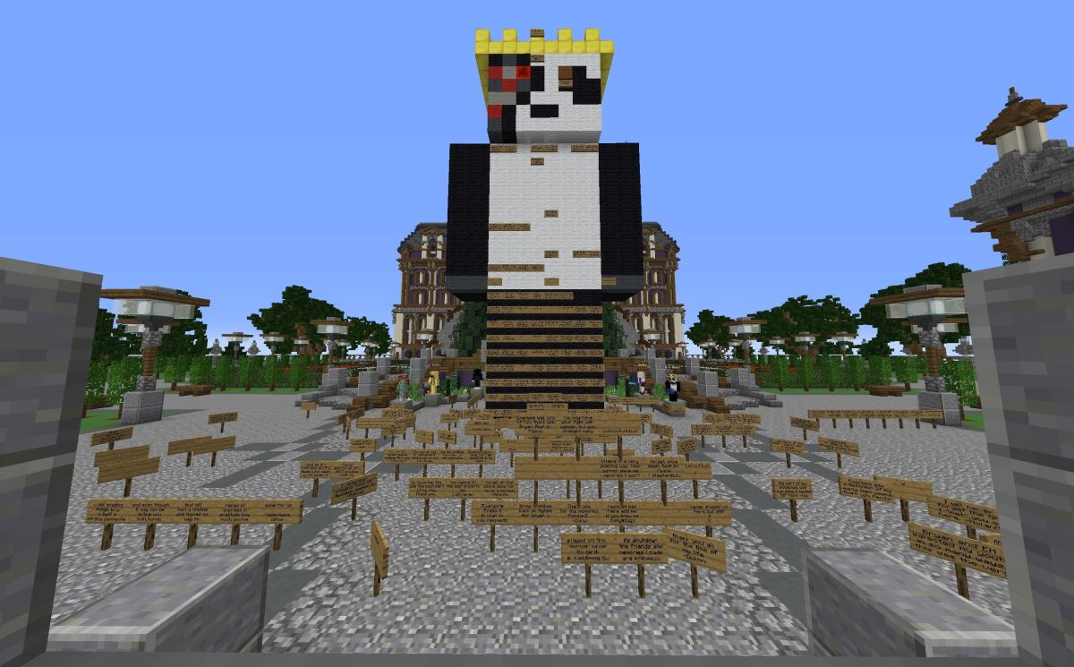 Minecraft players build touching tribute to server owner who died of