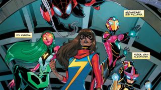 Marvel's premiere teen team the Champions take the fight to evil corporations