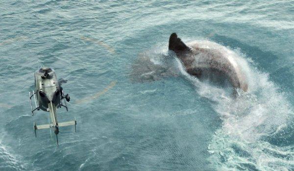 The Meg shark helicopter