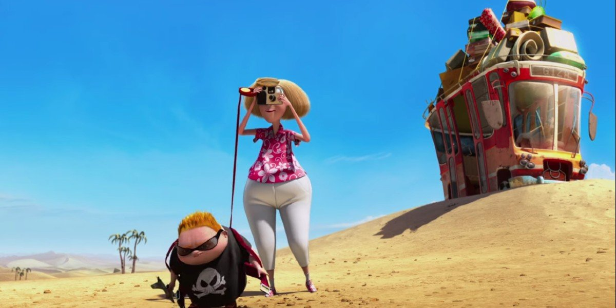 Mindy Kaling voicing Justin's Mom in Despicable Me